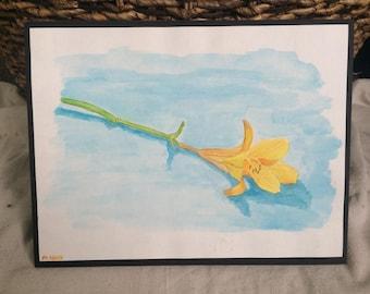 Watercolor Yellow Flower
