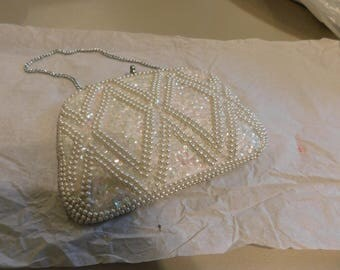Vintage Bon Soir italian beaded purse