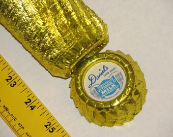 Many vintage foil milk bottle caps from Daniels Farm Dairy in Middletown Connecticut (CT), w/gospel tract.