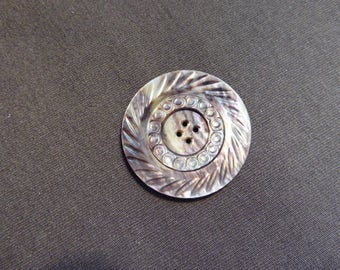 vintage abalone shell button