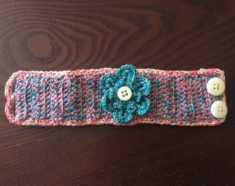 Crocheted cuff bracelet