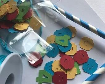 Table confetti - mini lego heads