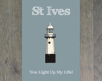 """St Ives Smeatons Pier Lighthouse """"You Light Up My Life"""""""