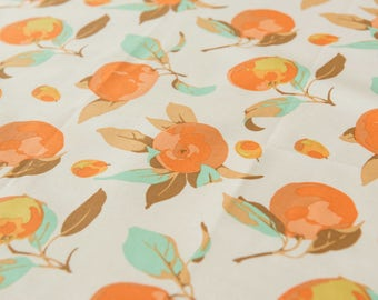 Citrus in Peach by Martha Negley by the Fat Quarter (FQ)