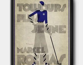 Rochas Ad · 1930s · Instant Download · Fashion · Illustration · Art Deco · Vintage · Paris · Printable #133