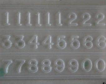 Resin Numbers Jewellery Mould RM 1669