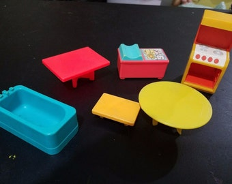 Fisher Price Little People Vintage Doll House Furniture