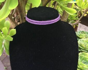 Purple Rope Choker