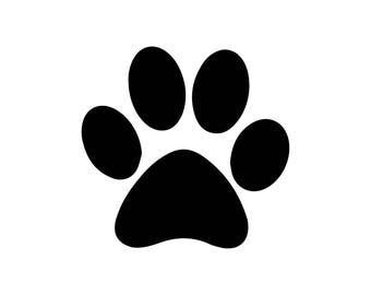 Paw Monogram Svg, Paw Print Svg, Dog Svg, Paw Cricut Cut Files, Paw  Silhouette Cut Files