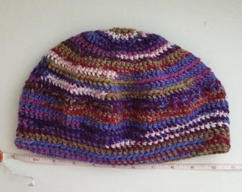 Unique Multicolor Crochet Hat
