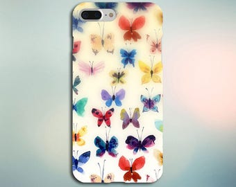 Watercolor Butterfly Case for iPhone 5, 6, 6+, 7, 7+ and Samsung Note 5, s6, s7 Edge, s7