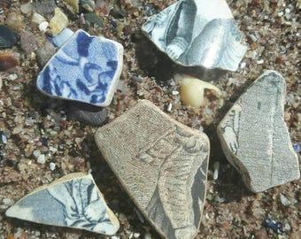 Sea glass pottery beach find