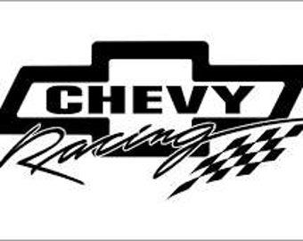 chevrolet racing logo. chevrolet racing vinyl decal logo