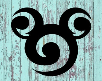 Mickey Disney Decal/Mickey/Disney/Swirl/Disney Swirl Decal/Disney Decal