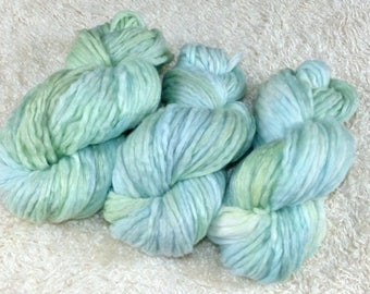 300 g Merino with linen combed tops hand dyed (roving pencil)