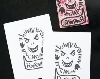 Rawr Greeting Card