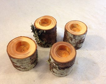 Tree Branch Candle Holders Set of 4
