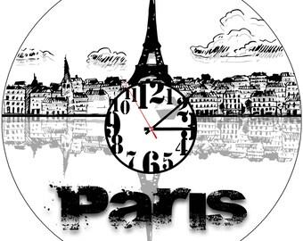 Custom Vinyl wall clock Paris