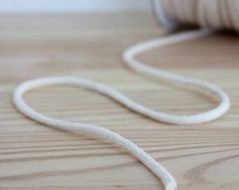 10 mètres de coton tressé écru cordon 3mm / corde de coton / / / 100 % coton corde / / artisanat corde / / corde en macramé / / panier cordon