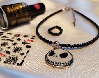 Nightmare Before Christmas Jack Skellington anklet gift set