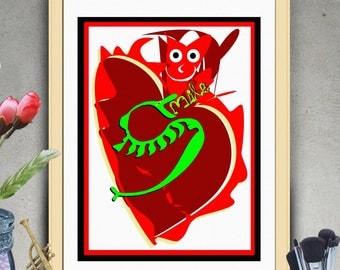 "PRINTABLE Art ""Smile Snake"" ,Typography Poster,Typography Art Print,Inspirational Poster,Motivation Quote,Typography Wall Art,Art Print"