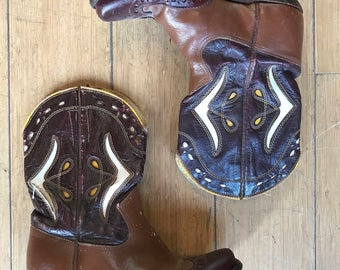 1950's SHERIFF Western Peewee Boots Size:35.5