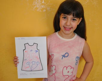 Make your dress! Wear your self-designed clothing! Create, draw and wear your fashion creation!