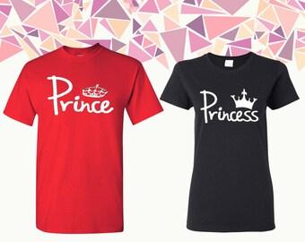 Prince Princess T Shirt Prince And Princess Shirts Prince & Princess Tees Couple T-shirts Couple Shirts Couple Tees Gift For Couple