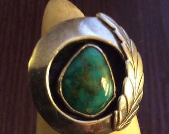 VINTAGE DAVID TUNE sterling turquoise ring