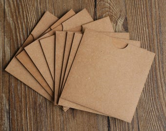 Kraft Paper CD Sleeve - Kraft Wedding Favor  - Kraft CD Sleeve, Photographer Packaging, Photographer CD Packaging