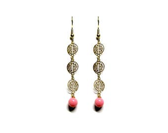 Vintage earrings coral