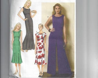 Butterick 6130 Sewing Pattern Ladies Dress and JumpSuit Sewing Pattern with Variations