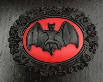 Gothic bat brooch