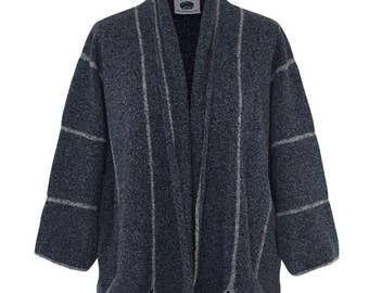Bothyknit Silk & Lambswool Panel Jacket