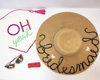 Bridesmaid beach hat