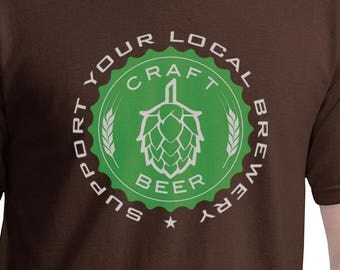 Craft Beer - Support Your Local Brewery - green