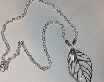 "For woman ""Silver leaves and their renaissance pearls"" necklace"