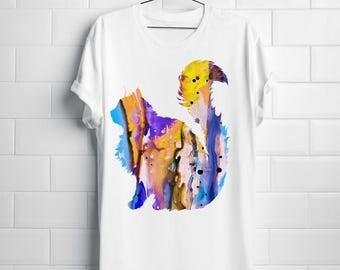 Cat T-shirt Art Tee Fashion Apparel Shirt White