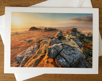 Dartmoor Photograph Greeting card - Great Mis Tor
