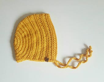 Crochet Bonnet | Bamboo Silk | 1-2 Yrs