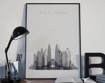 Kuala Lumpur Art Kuala Lumpur Wall Decor Kuala Lumpur Skyline Wall Art Kuala Lumpur Print Home Decor Kuala Lumpur Poster Kuala Lumpur Photo