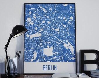 Berlin Map Berlin Travel Map Berlin Street Map Berlin City Map Berlin Map Poster Berlin Map Photo Berlin Map Print Berlin Map Art Berlin Art