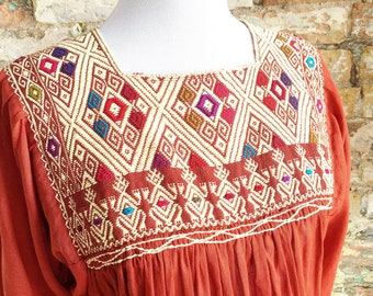 Mexican Embroidered Top / Mexican Peasant Blouse /Mexican Embroidered Blouse / Bohemian Embroidered Top / Sienna Mexican Top