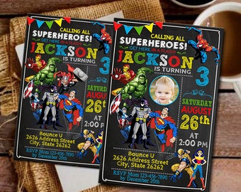 Superhero Superhero Invitation Super hero Party Superhero Birthday Invitations Super hero Invitation Superhero Birthday Super hero