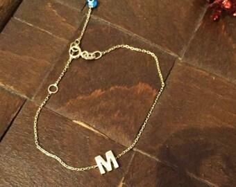 14k Gold Personalized Bracelet