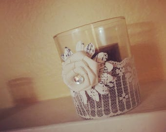 Home made candle votive holder
