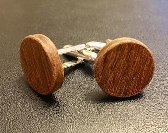 Wooden Cuff Links - Beechwood
