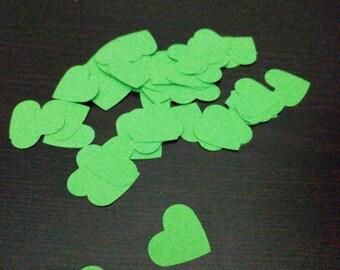 Heart Confetti Light Green