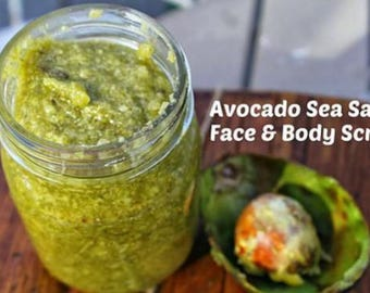 avocado sea salt scrub