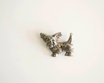 Dog brooch. Animal brooch. Small brooch. Miniature brooch.